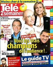 TELE 2 SEMAINES N°259 30 NOVEMBRE 2013  CHAMPIONS AUDIENCE/ FALCO/ SPECIAL NOEL