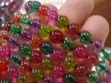 8mm Multicolor Tourmaline Round Loose Beads 15'' AAA