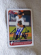 Tampa Bay Rays Jeff Ames Signed 2012 Hudson Valley Renegades Card Auto