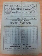 1935/36 WEST HAM v SOUTHAMPTON