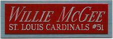 WILLIE MCGEE NAMEPLATE AUTOGRAPHED Signed Baseball Display CUBE CASE