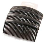 4 Pack Large Plain Hair Combs Slides 9cm Black Tort or Clear - Hair Accessories