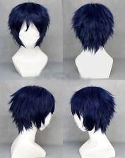 Dark Blue Ao no Exorcist -Okumura Rin  Short layered Anime Cosplay Wig