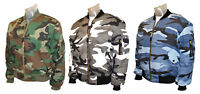 MA1 Flight Bomber Jacket Combat Army Military Air Force US Camo Urban Padded Top