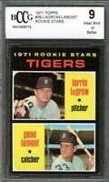 Lerrin Lagrow / Gene Lamont Rookie Card 1971 Topps #39 Detroit Tigers BGS BCCG 9