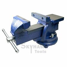 4'' Bench Vise with Anvil 4in Locking Swivel Base Table top Clamp Cast Steel