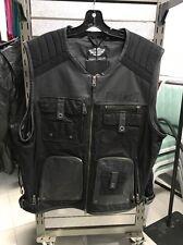 Harley-Davidson Mens 2XL  Leather Vest. 97078-16VM