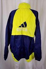 Vintage Adidas Trefoil Track Jacket Mens XL Nylon Colorblock Mesh Lined Zip Up