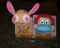 "Nickelodeon Ren and Stimpy Lot 6"" Plush STUFFED ANIMAL Toys NEW 2017 Viacom MIB"