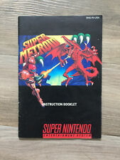 Super Metroid manual, very good condition