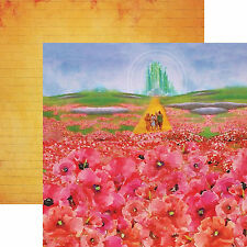 Paper House WIZARD OF OZ-POPPIES 12x12 Dbl-Sided Scrapbooking (2pc) Paper