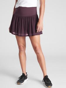 """ATHLETA A Game Mesh Skort 13.5"""" Agate Purple XL   Tennis Skirt w/ Shorts NWT XL"""