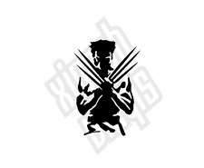 Wolverine Xmen Avengers pegatina de Vinilo calcomanía auto Cd Piel Logo Nombre Cd Comic Ipad
