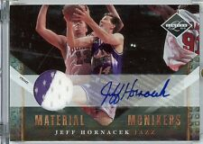 Jeff Hornacek Autograph Jersey Patch 209-10 Panini Leaf Material Monikers 9/10