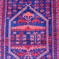 Semi-antico yagcibedir Orient-TAPPETO 150x110 CM ROSSO BLU LANA Rug parte di Tapis Tappeto