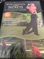 Roger Fredericks Reveals Secrets to a Fundamental Golf Swing Dvd New Nip