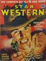 Vintage Star Western Pulp book Dime Novel Magazine February 1946 wild west