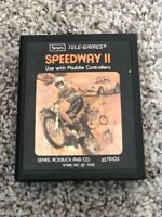 Atari 2600 - Speedway II 2 (Sears Picture Label) - game cartridge only - tested