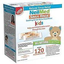 NeilMed Rinçage des sinus nasal Apaisant Saline pour les enfants 120 pré mélangé