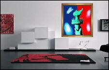 Steve KAUFMAN Oil PAINTING on Canvas Original Signed Artwork USA Libety Torch
