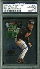 Orioles Cal Ripken Jr. Signed Card 1999 Metal Universe #241 PSA/DNA Slabbed