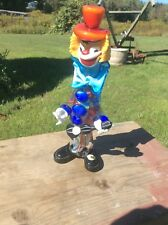 Vintage Clown Hand Blown , Murano Art Glass, Made In Italy , Stunning Clown