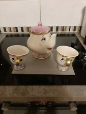 More details for brand new disney mrs potts teapot and 2 chips cups