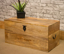 MANTIS SOLID NATURAL MANGO WOOD VINYL LP STORAGE TRUNK BOX CHEST LOCKABLE DOUBLE