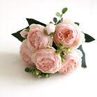 Silk Peony Rose Artificial Fake Flowers Bouquet Home Wedding Party Garden Decor