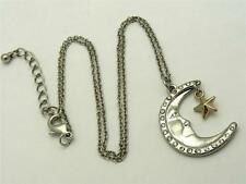 $16 Freedom At Topshop Moon And Star Ditsy Pendant & Chain Necklace Silvertone