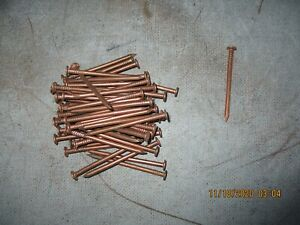 55 Copper Nails Rain Gutters Tree Removal Boat Repair Building Materials NEW