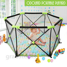Portable Baby Playpen Playard Play Fence Folding Yard Indoor Outdoor +Travel Bag