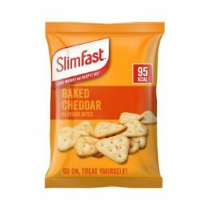 Slim Fast Baked Cheddar Bites Flavour Snack 12 x22g Bags 99 Kcal