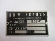 Placa de identificación bmw france francia escudo plate ID s43 día