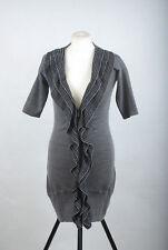 P399/09 Karen Millen Wool/Lyocel Sexy Fitted Long Cardigan Jumper Dress, size 12