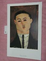 Portrait of Paul Guillaume  Amedeo Modigliani Vintage Print Artwork Reproduction