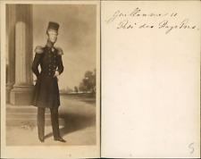 Guillaume II, roi des Pays Bas, Hollande CDV vintage albumen.  Tirage albuminé