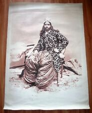 Print on Canvas of A Sikh Man Sited on Chair Having Turban and Loose Cloths