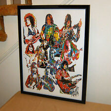 70's Guitar Players, Jimmy Page, Duane Allman, Brian May, Ace 18x24 POSTER w/COA