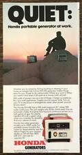 1979 Honda Generators Print Ad Quiet: Honda Portable Generator at Work
