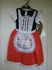 GIRLS LITTLE RED RIDING HOOD FANCYDRESS COSTUME CHILDS 3-4 YEARS NEW BNWT GIFT P