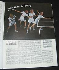 PING PONG 1942 UNDEFEATED LADY CHAMP  RUTH HUGHES AARONS FEATURE TABLE TENNIS