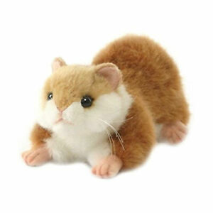 """NEW with Tag - Crouching Hamster Plush Stuffed Tan Animal 7"""" by Hansa Toys 3738"""