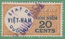Viet Nam Republic Revenue Barefoot #9 used 20c 1952 cv $6