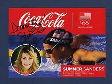 Summer Sanders signed 2 X Olympic Gold Medalist Coca-Cola advertising photo
