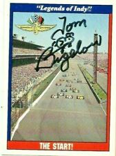 Tom Bigelow signed 1991 LEGENDS OF INDY card RACING CART #1 THE START