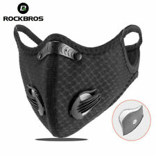 RockBros Outdoor Sports Scarf Neck Warmer Headband Face Mask with Filter Black