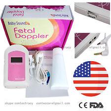 Us Fda,Prenatal Fetal Doppler Listen Baby Heart beat Monitor Lcd,Gel,earphone,A+