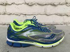 MINT Saucony Men Cortana 4 Running Shoe Silver/Blue/Citron US 10 EUR 44 S20240-1