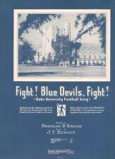 FIGHT! BLUE DEVILS, FIGHT! SHEET MUSIC-1948-DUKE UNIVERSITY FOOTBALL SONG-RARE!!
